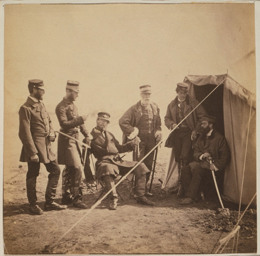 Brigadier McPherson & officers of the 4th Division Captain Higham