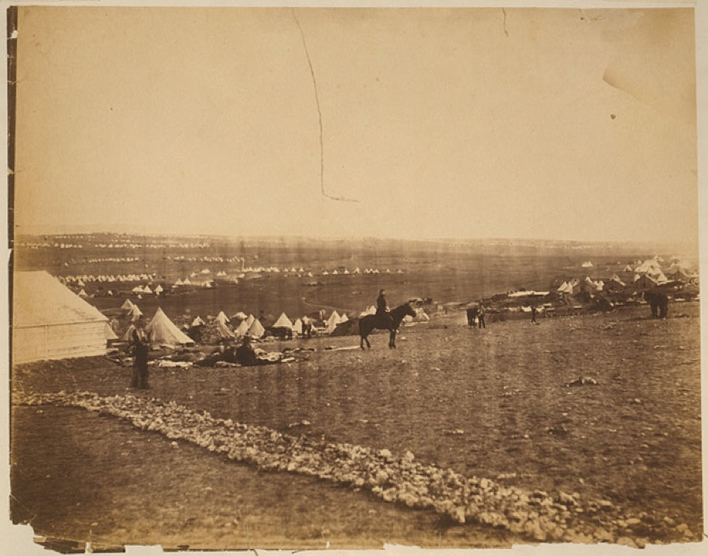 Camps on plateau before Sebastopol