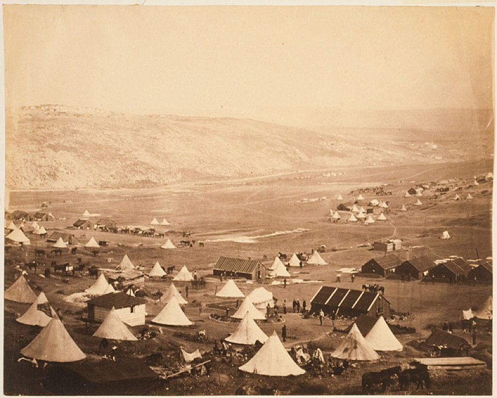 Cavalry camp, looking towards Kadikoiu