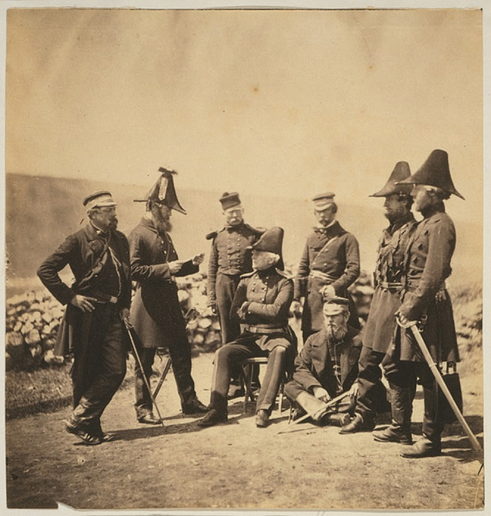 Lieutenant General Sir George Brown G.C.B. & officers of his staff Major Hallewell