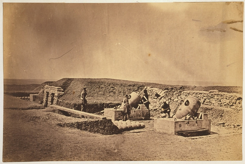 Mortar batteries in front of Picquet house Light Division