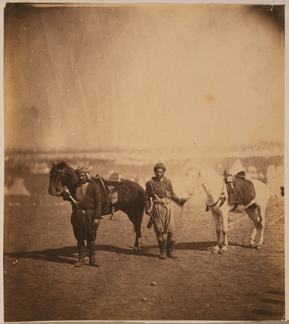 Nubian servants & horses