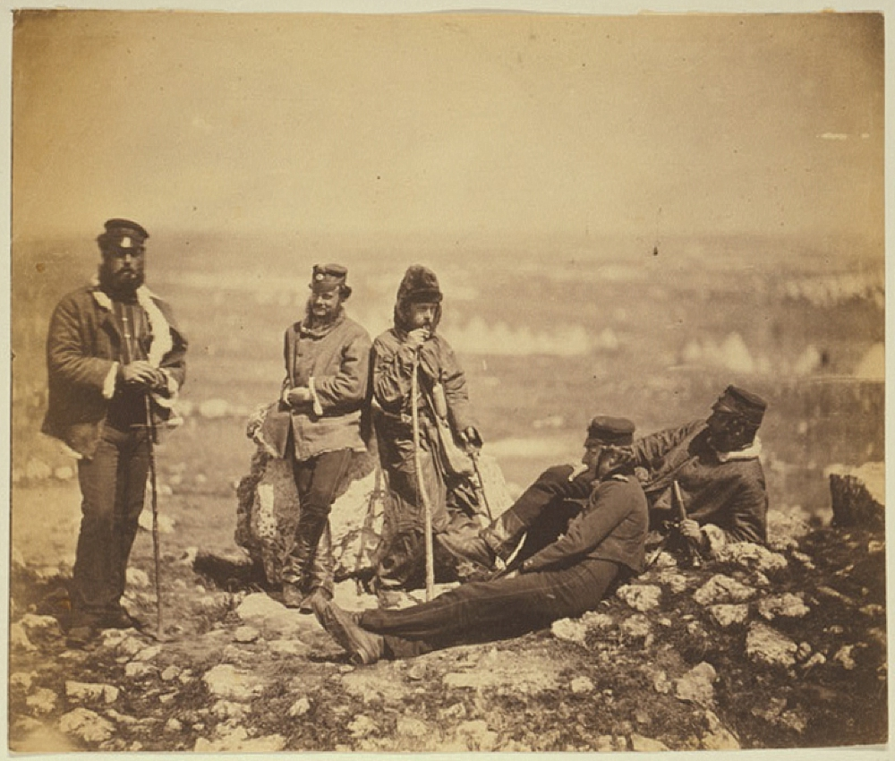 Officers of the 89th Regiment at Cathcart's Hill, in winter dress