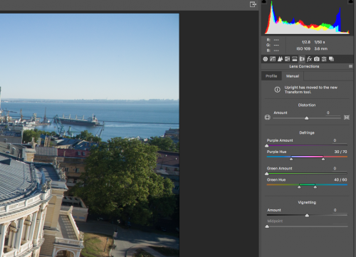 Both Photoshop and Lightroom have automatic and manual tools to remove chromatic aberration.