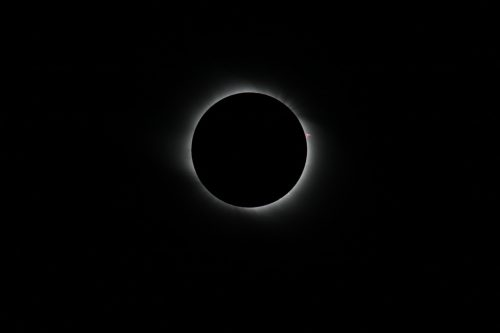 Showing prominences, Total Solar Eclipse 2008 taken in China, by the Gobi Desert