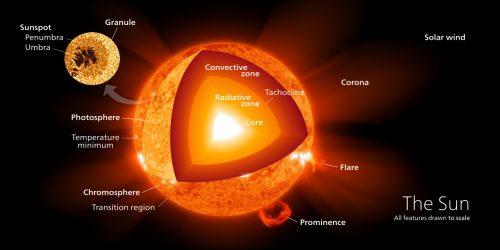 Diagram of the sun