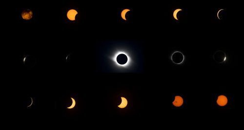 Total Eclipse Sequence, Taken at the 2008 Total Eclipse seen in the Gobi Desert China