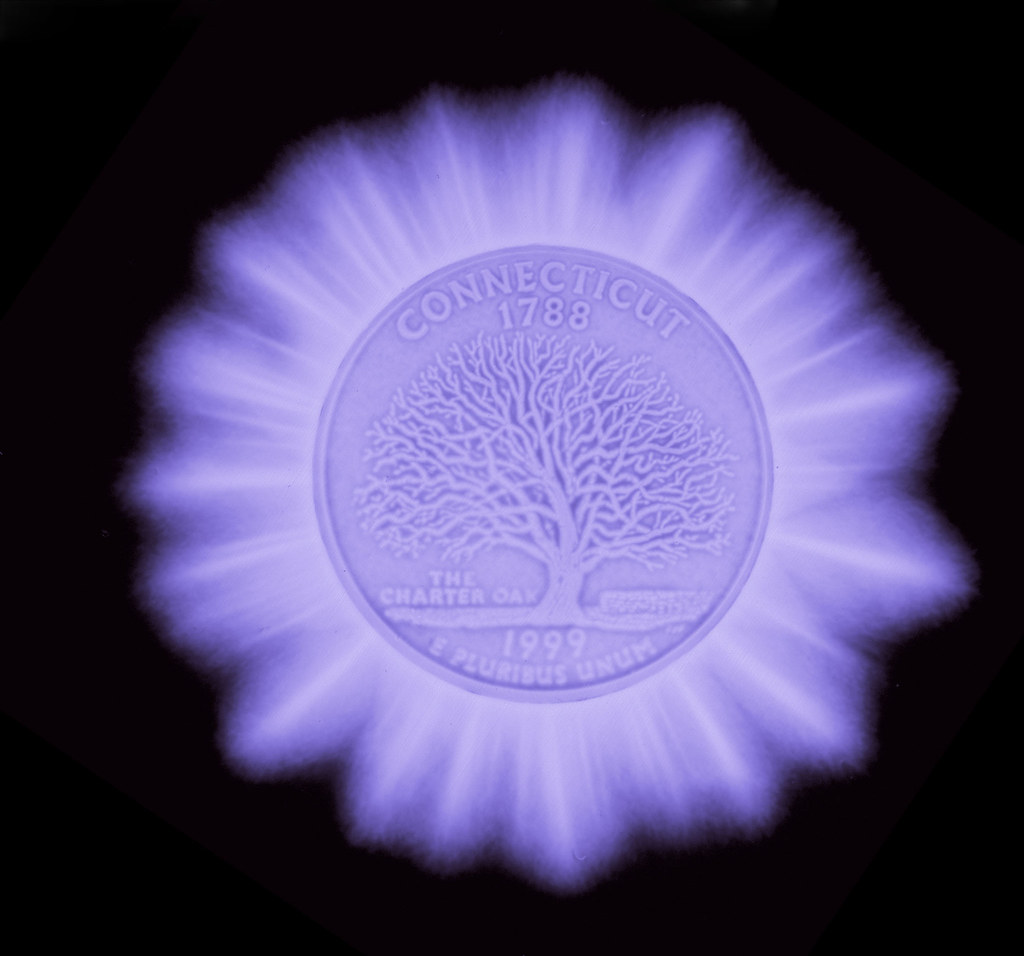 Kirlian pretty coin