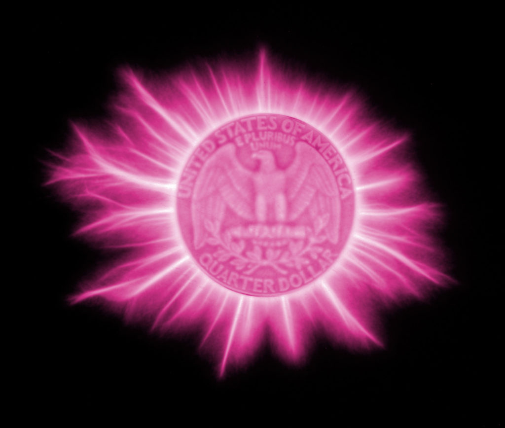 Kirlian coin