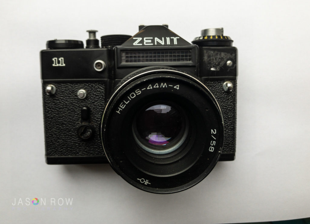 Zenit camera out of white