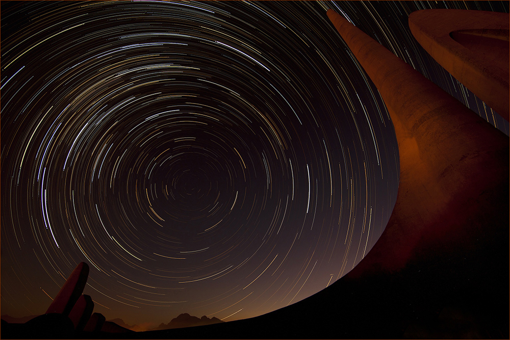 star trails night sky photography