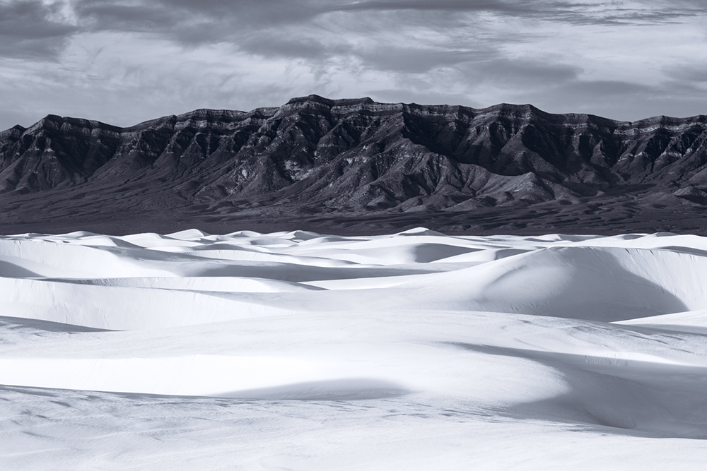 Black & White, White Sands NM, New Mexico, USA