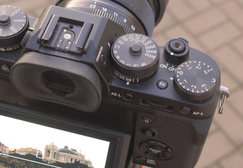 Fuji camera top plate
