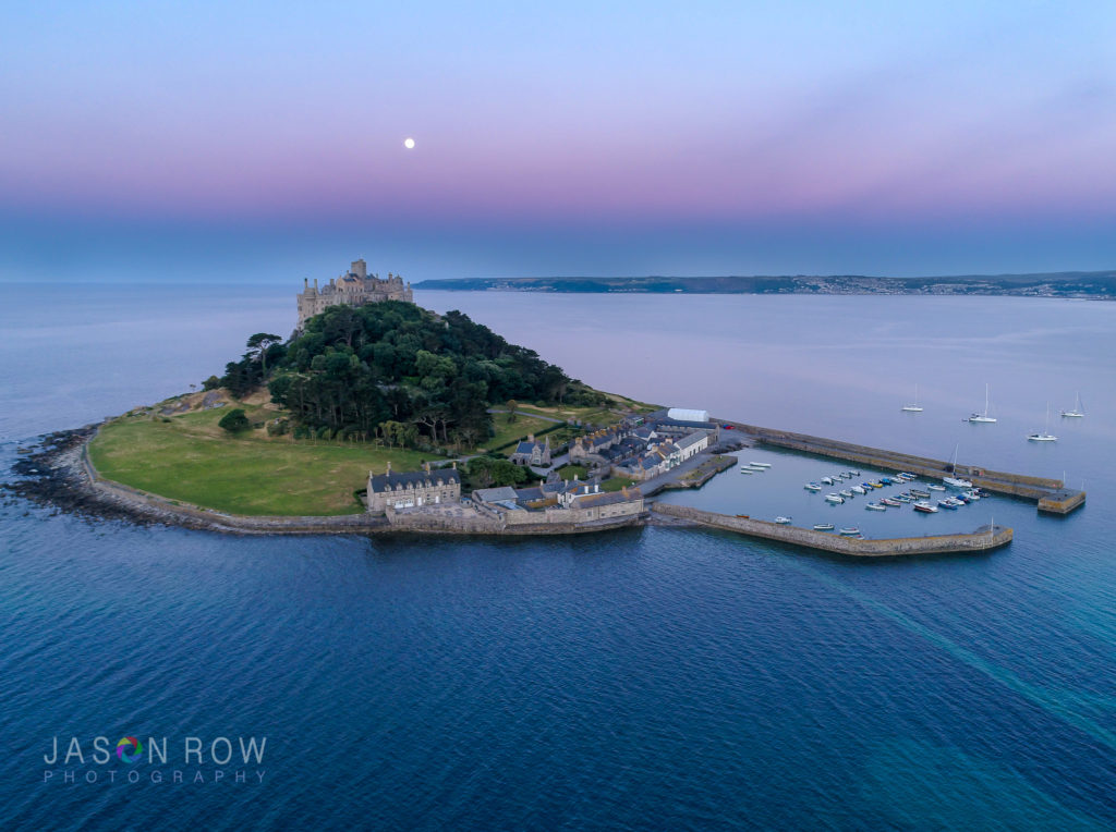 St Michaels Mount from the air
