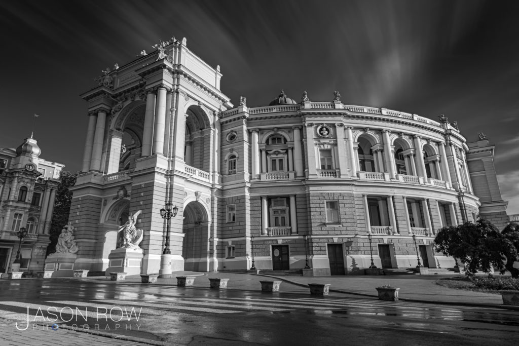 Long exposure architecture image of Odessa Opera House