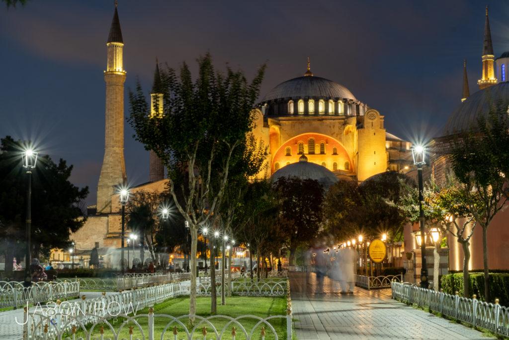 blue hour at hagia sophia, Istanbul