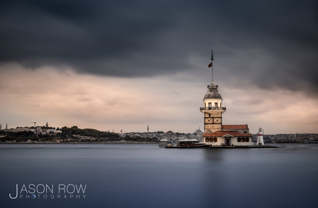 Long exposure architecture image of Maidens Tower Istanbul