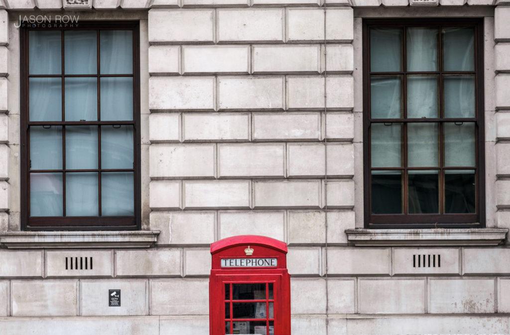 Red British telephone box shot on a Fujifilm X-T4