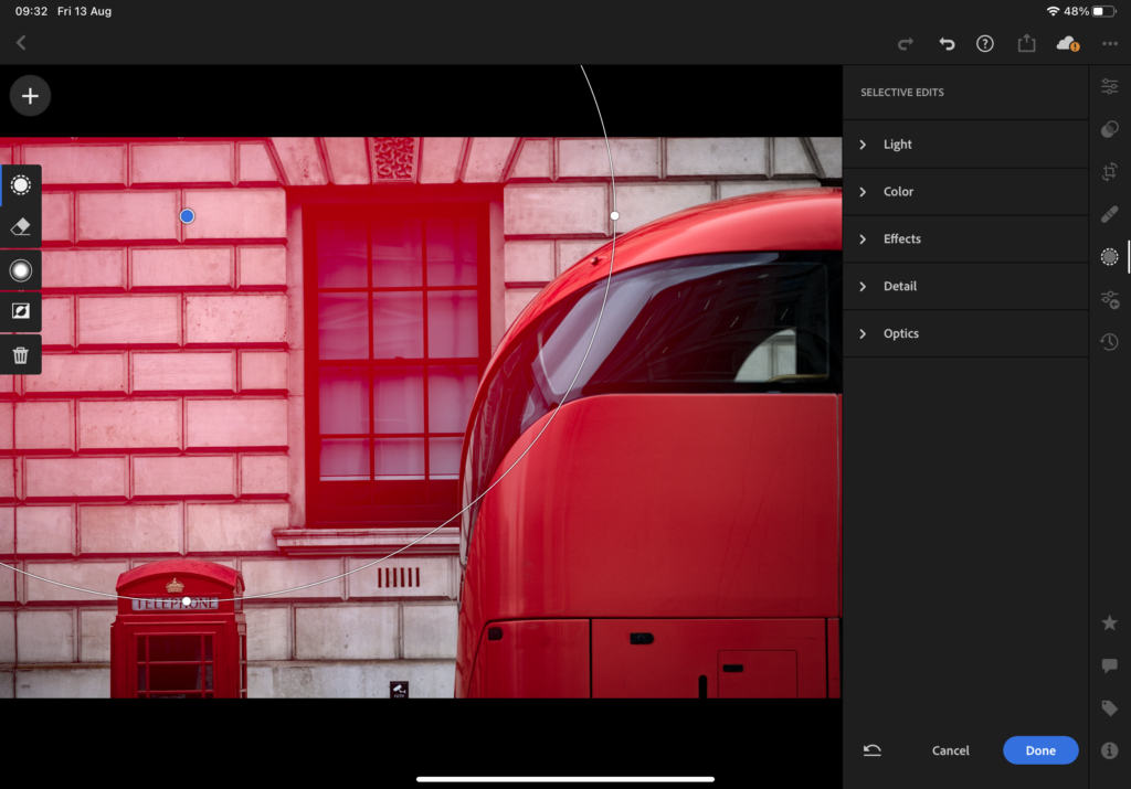 Editing with Lightroom on iPad Pro