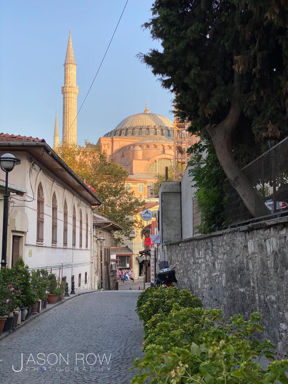 Hagia Sophia from a beautiful side street