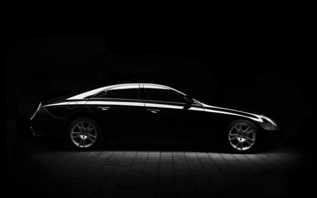 black car minimal composition in automotive photography