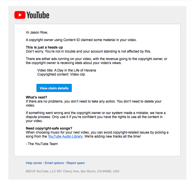 I Just Got A Copyright Claim On My Own Video Light Stalking