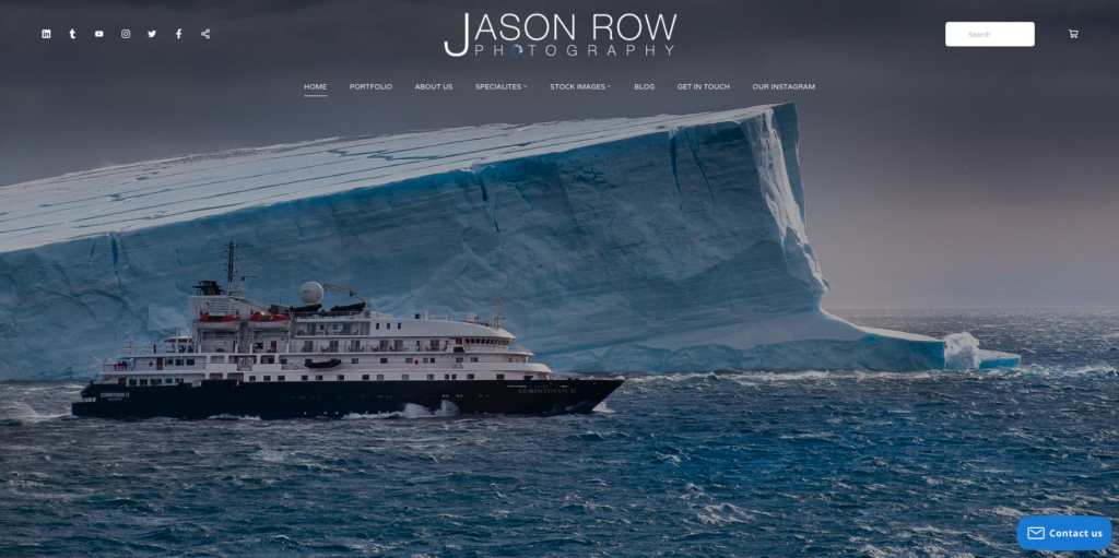 screenshot of Jason Row Photography home page