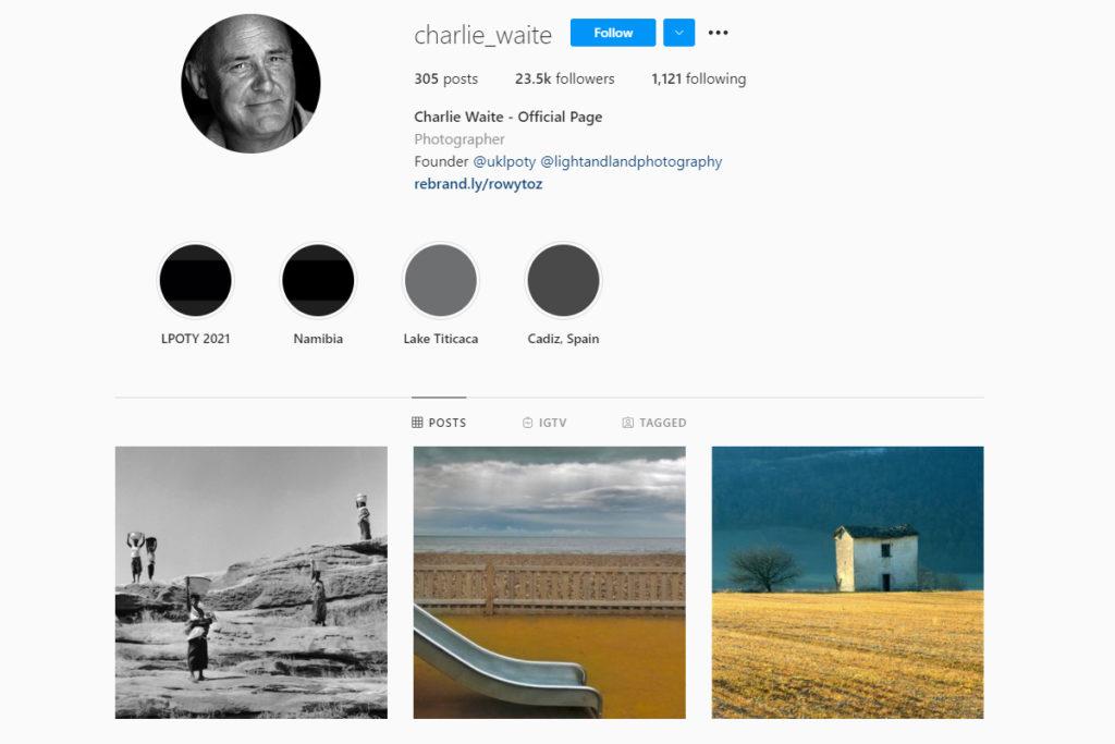 charlie wait landscape photography on instagram