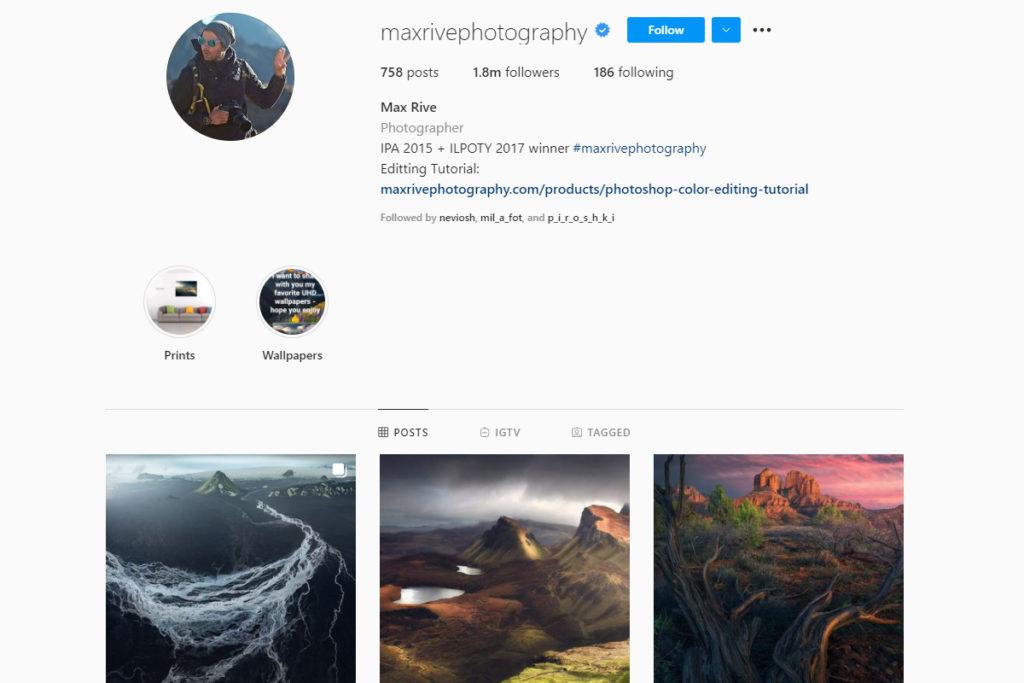 max rive on instagram