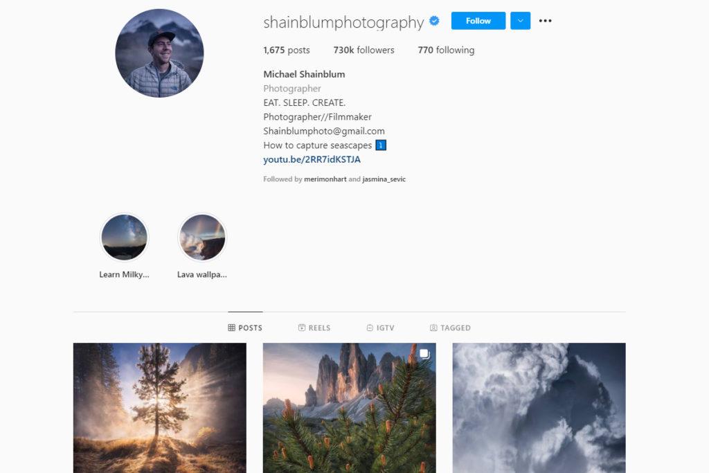 michale shainblum on instagram
