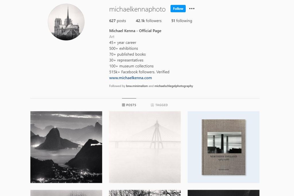 michael kenna landscape photography on instagram