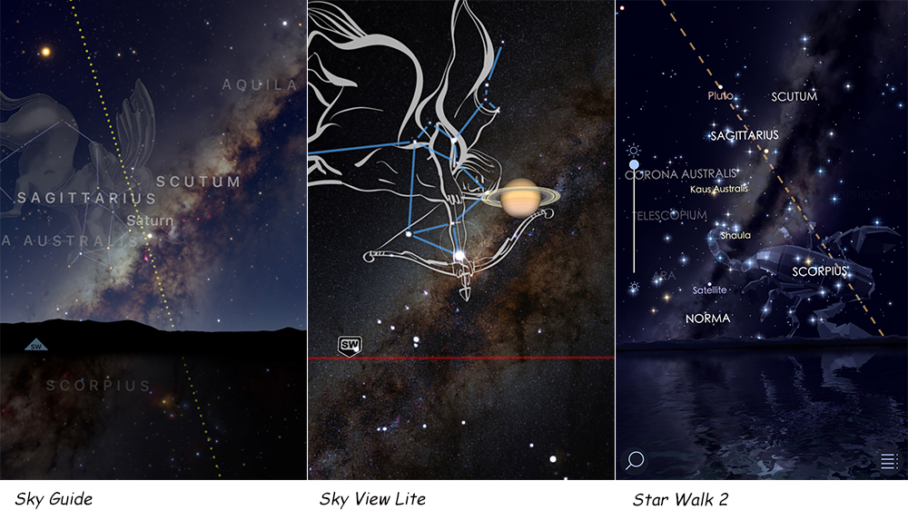 apps to locate the milky way