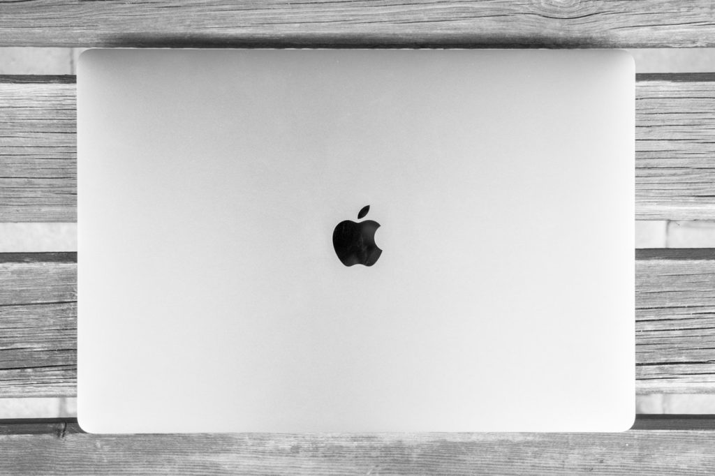 abstract apple art black and white