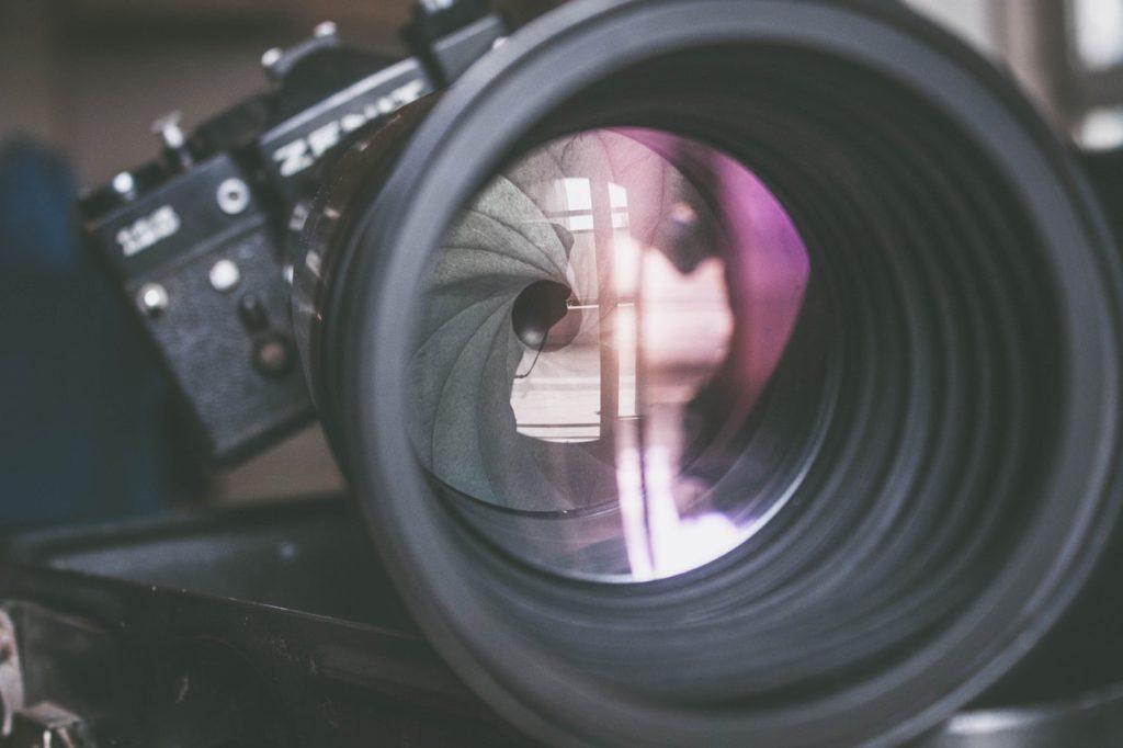 antique aperture blur camera