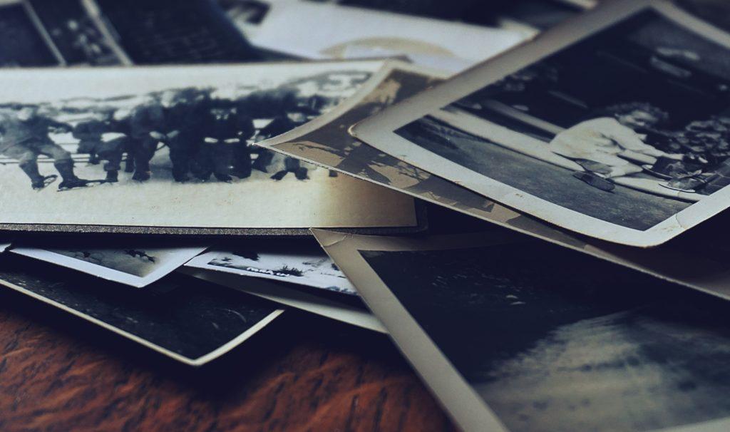 assorted photos on table