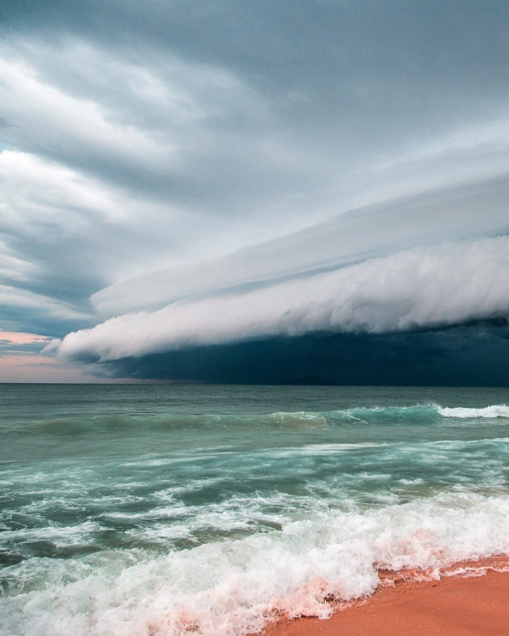Storm front over water.
