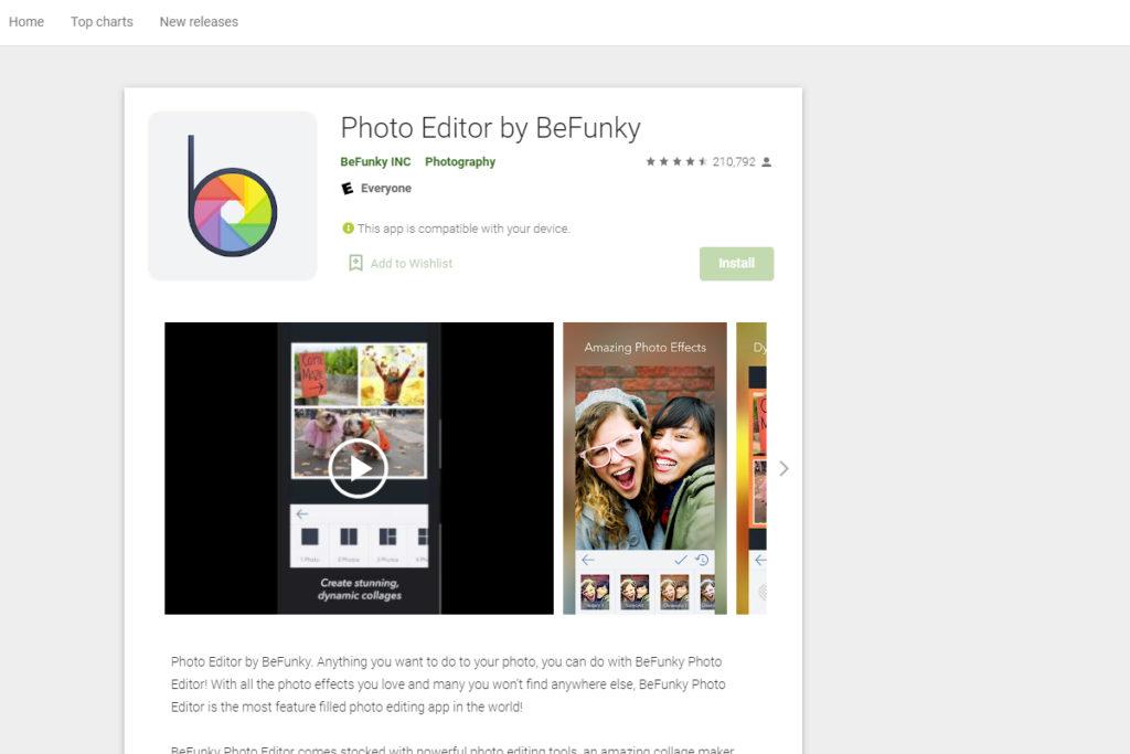 befunky photo editing app