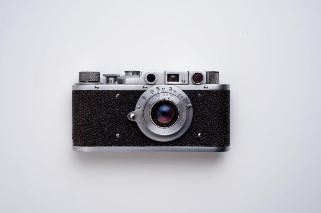 black and grey camera