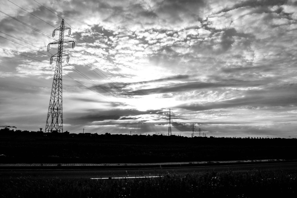 black and white clouds dark electricity