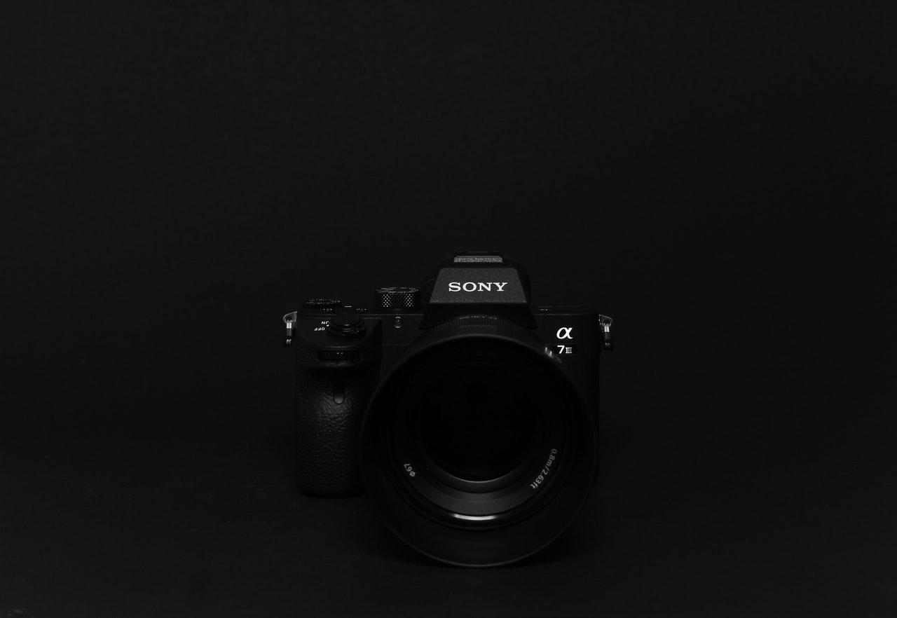 black sony camera