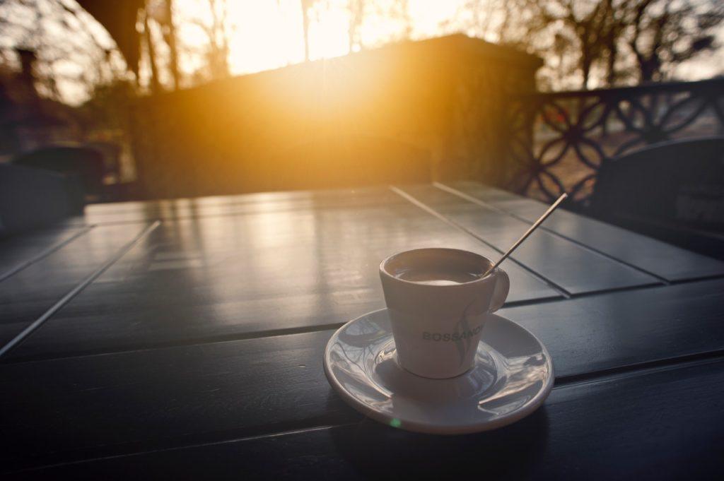 blur caffeine cappuccino close up