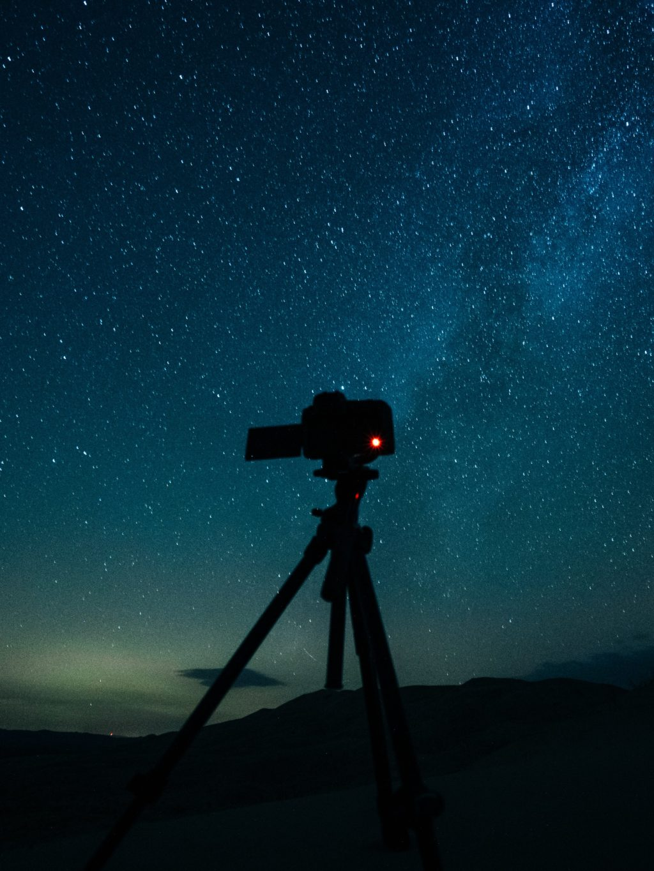 camera tripod night
