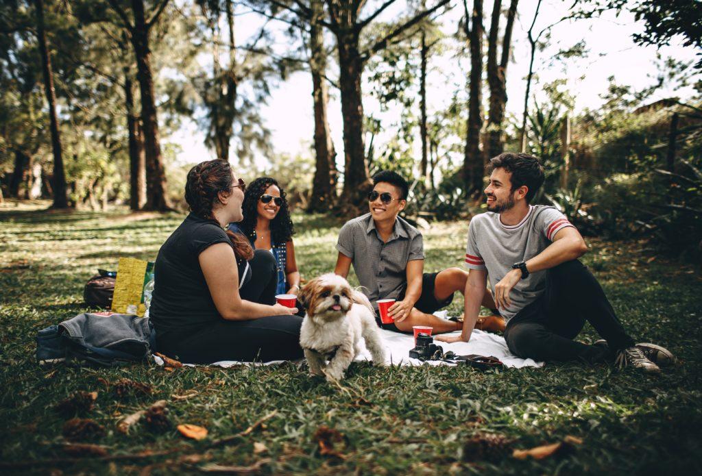 family in nature photo idea