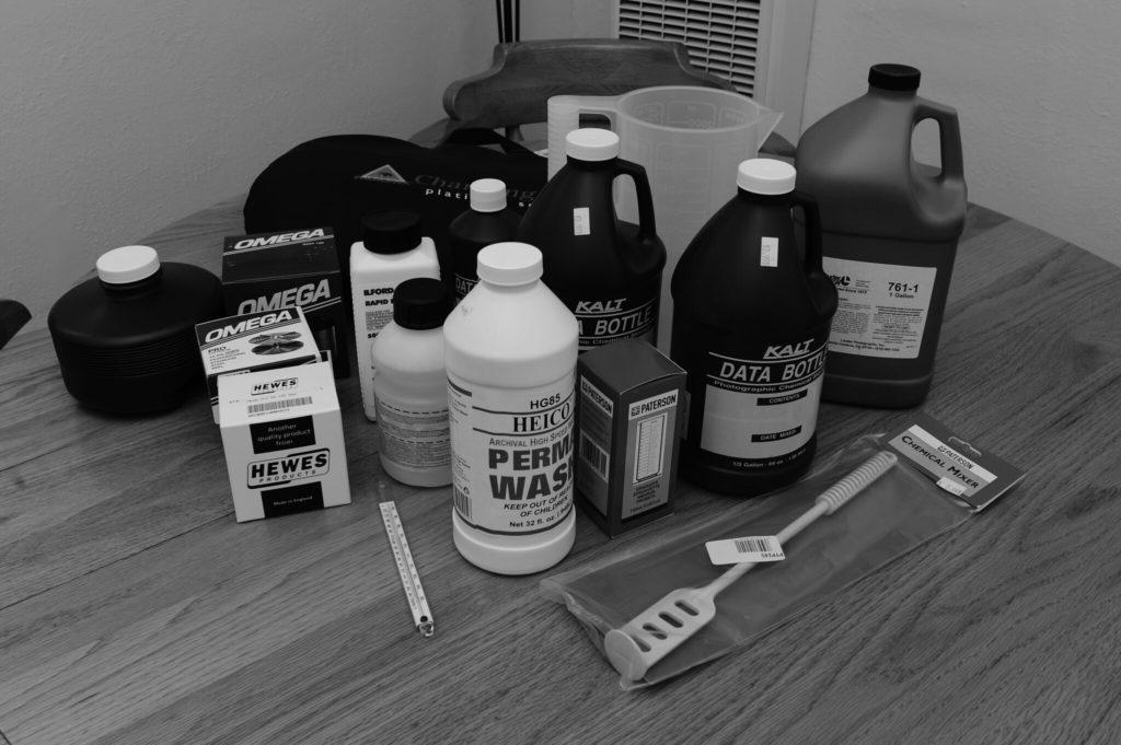 chemicals to develop film