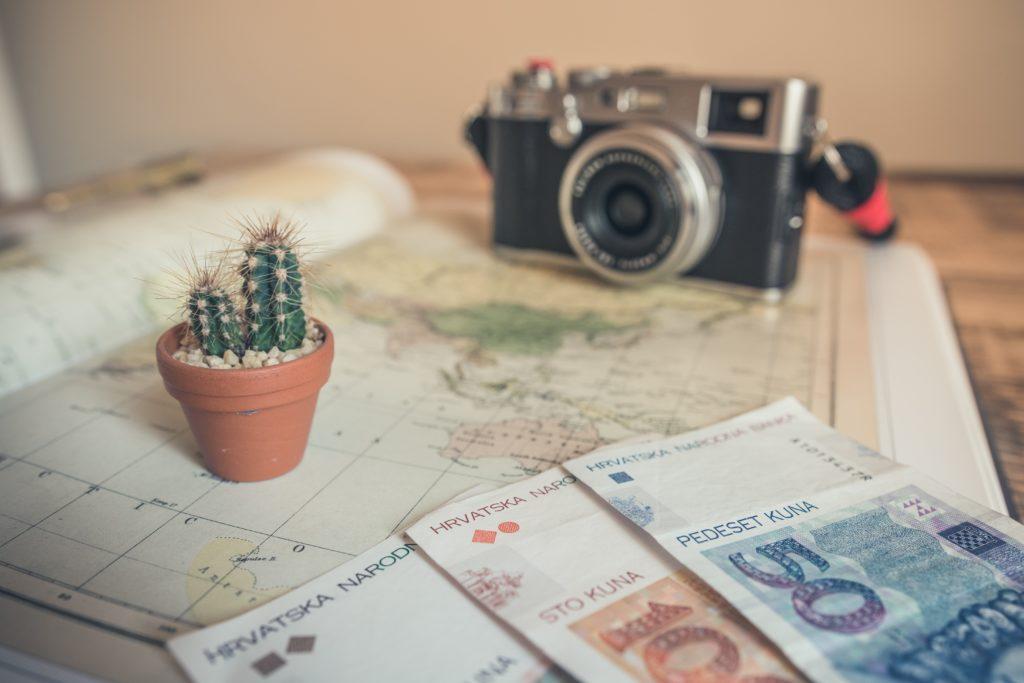 camera and money