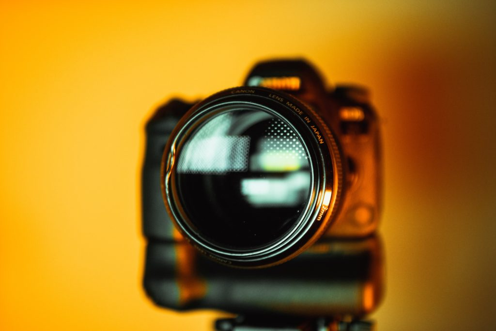 close up photo of dslr camera
