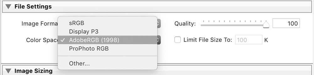 file settings for printing