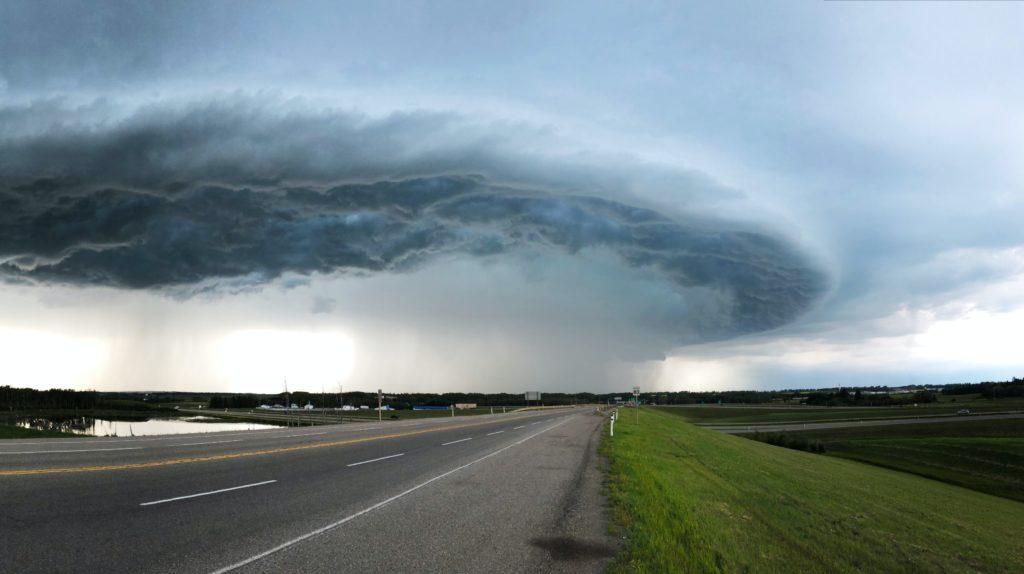 road and tornado