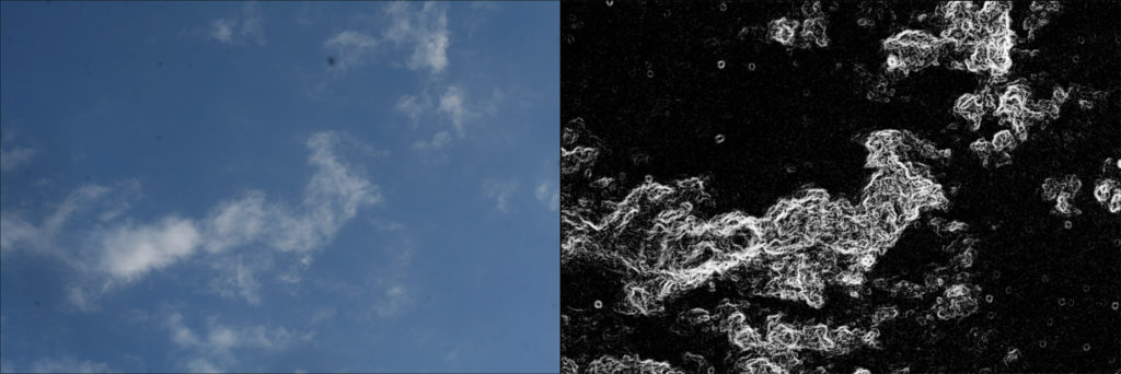 dust specks on the image compared with the visualize spots feature