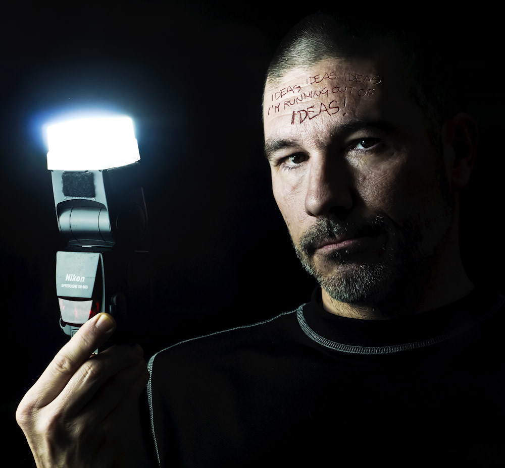 Use speed light in ways that it not directly pointed at your subject, but instead try bouncing it from the top wall or the sides, or the whole room right behind you